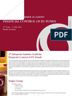 Summer-Academy Financial Control of EU Funds PR