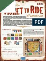 Jogo Ticket to Ride 10 Anos 1910 Regras