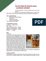 Destilados de Caña de Azúcar Para Producir Alcohol
