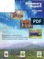 Conservation of Asian Elephant in the Nilgiris Eastern Ghats Landscape