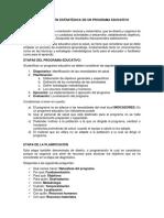Planificación Estratégica de Un Programa Educativo