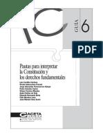 Pautas para interpretar la Constitucion.pdf