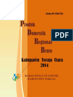 PDRB Sektoral Kabupaten Toraja Utara Tahun 2014