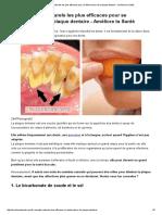 Les 5 Remèdes Naturels Les Plus Efficaces Pour Se Débarrasser de La Plaque Dentaire - Améliore Ta Santé