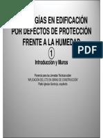 Patologías en Edificación Por Defecto de Protección Frente a La Humedad