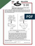 Retaining Engine Brake Pistons