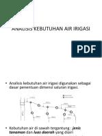 Pert 5 Dan 6. Analisis Kebutuhan Air Irigasi