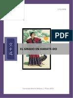 El Grado en Karate Do