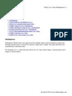 VHDL 4 to 1 Mux (Multiplexer)