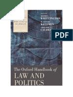[Oxford Handbooks of Political Science] Keith E. Whittington, R. Daniel Kelemen, Gregory A. Caldeira - The Oxford Handbook of Law and Politics (2008, Oxford University Press, USA).pdf