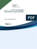 Otc Medicine Monograph Bromhexine Hydrochloride