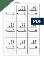 Multiplicação com 2 algarismos