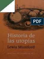 Mumford Lewis - Historia de Las Utopias