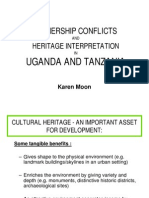 Ownership Conflicts and Heritage Interpretation in Uganda and Tanzania Presentation