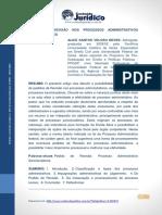Pedido de Revisão Nos Processos Administrativos Sancionadores - Boletim Jurídico 10-02-2018-251-276