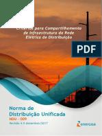 NDU 009 - Critérios Para Compartilhamento de Infra-Estrutura Da Rede Elétrica de Distribuição