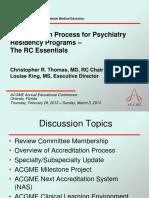 Accreditatoion Process for Psychiatry Programs