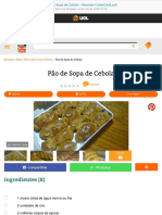Pão de Sopa de Cebola - Receitas CyberCook
