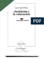 Fillloux - Durkheim y La Educación
