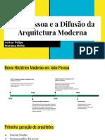 João Pessoa e a Difusão Da Arquitetura Moderna