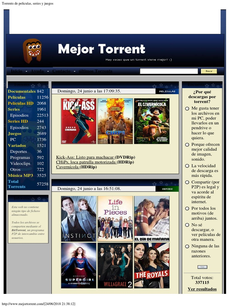 Mejortorrent torrents series