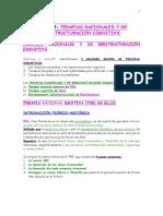 Tecnicas de Intervencion C C 1-Tema 19 Terapias Racionales Y de Reestructuración Cognitiva (Apuntes Examenes Psicologia Uned Esquemas Resumen)
