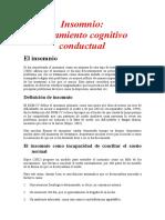 Insomnio Tratamiento Cognitivo Conductual