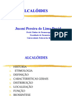 10 Aula - Alcaloides Total - Profª Jucei David