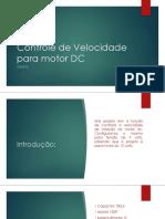 Controle de Velocidade Para Motor DC