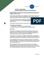 EU EEA Optometrist Form 2016