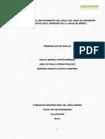 Estudio Para El Mejoramiento Del Suelo Del Área de Crecimiento Urbanístico en El Municipio de La Jagua de Ibirico