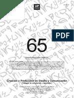 Creación y Producción en Diseño y Comunicación nro 65