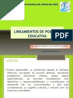 Lineamientos de Politica Educativa