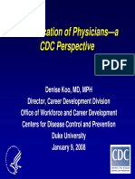 The Education of Physicians—a CDC Perspective