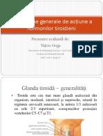 Mecanisme Generale de Acţiune a Hormonilor Tiroidieni