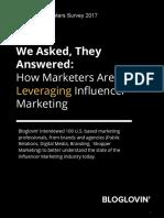 Bloglovin Marketers Survey Report