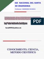 Clase 1 Conocimiento - Ciencia- Metodo Cientifico