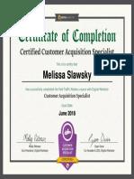 CAS Certificate