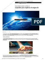Las 4 Teorías Más Aceptadas Para Explicar El Origen de La Tierra