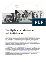 Five Myths About Mennonites and the Holocaust