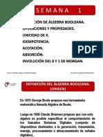 Semana 1 Algebra Booleana. Teoremas y Propiedades