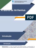 A Teoria de Arrhenius