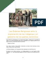 10. Las Órdenes Religiosas Ante La Explotación de Los Indígenas
