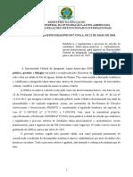 Edital 01-2018 Prae-prograd-proint Estabelece e Regulamenta o Processo de Selecao de Estudantes Latino-Americanasos e Caribenhasos Para Ingresso - Unila Para o Ano Letivo de 2019.