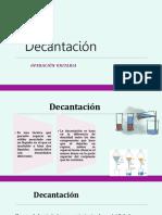 Decantacion