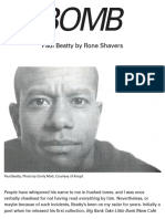 Paul Beatty - BOMB Magazine
