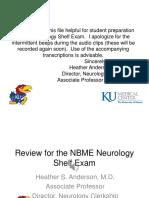 Neurology Shelf Exam Review Part 1.New