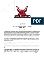 Terms and Relese of Liability for Ramdivision Contract