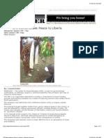 CPE Memorializes Peace in Liberia | Liberian Observer