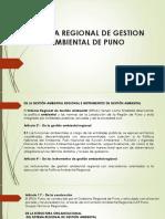 Sistema Regional de Gestion Ambiental de Puno